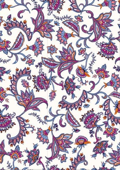 Tissu floral - Cold tandoorie - Mercery Market