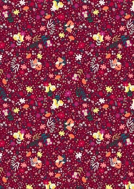 Tissu floral - Cold foret - Mercery Market